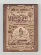 ALMANACCO ALMANACH  PHARMACIA DA COSTA  LISBOA  1893  MEMORANDUM - Calendars