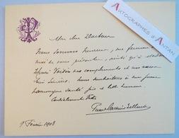 Pierre CARRIER BELLEUSE 1906 Peintre - à Un Médecin - Mme Henri Voisin - Carte Lettre Autographe - Autographes