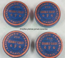 Boite De Cartouches 6 Mm Double Culot, Cartoucherie Française Paris Lot De 4 + 2 Quasi Vide - Armes Neutralisées