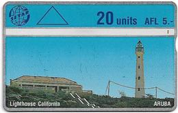 Aruba - Setar - L&G - Lighthouse California - 503A - 1995, 20U, Used - Aruba