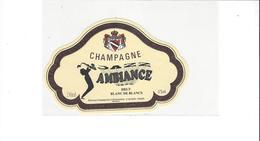ETIQUETTE CHAMPAGNE  AMBIANCE MUSIQUE  SAXO  ****  RARE    A  SAISIR   ****** - Champagne