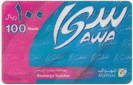 Saudi Arabia - Aljawal - Blue-Pink 100SR, Prepaid Hard Laminated Paper Card, Used - Arabia Saudita