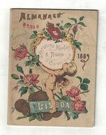 ALMANACCO ALMANACH  PRECO CORRENTE 1889  JERONYMO MARTINS & FILHO LISBOA  ARMAZEM DE VIVERES - Calendari