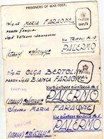 ITALIA  Prigionieri Di Guerra  Lotto Di 3  Piego Con Testo    Bombey India - 1900-44 Vittorio Emanuele III
