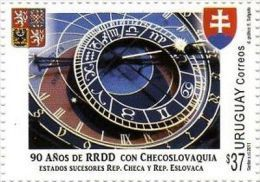 2011 Diplomatic Relations Czech Prague Astronomical Clock URUGUAY Sc#2358 MNH - Sciences