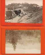 1880-1890 Suisse 2 Photos Sur Carton Format CDV Maennedorf Dont Locomotive Et Wagons Editeur Atelier RICHARD - Photographs
