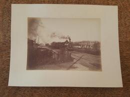 Photo Train à Vapeur N°208 - Locomotive - Format 5.9 Cm X 8.3 Cm - Trains