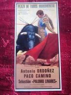 ANTONIO ORDONEZ-PACO CAMINO SEBASTIAN PALOMO LINARES -Carte Postale Affiche Poster Cartel Plakat Taurino Thème Corrida - Corridas