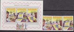 Suriname - 1982 Philexfrance Set+sheet  MNH - Suriname