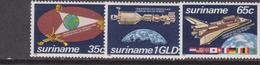 Suriname - 1982 Spazio Space Set  MNH - Suriname