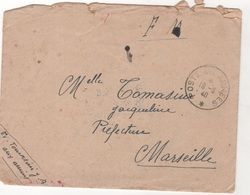 LETTRE DU 18 JUIN 1940 POSTE AUX ARMEES / S. P. 703 ( CORSE ) - CACHET 50e COMPAGNIE DU GENIE LE CHEF DE DETACHEMENT - Marcofilia (sobres)
