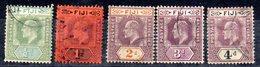 Sellos  Nº 47-48-49-51-52  Fiji - Fiji (...-1970)