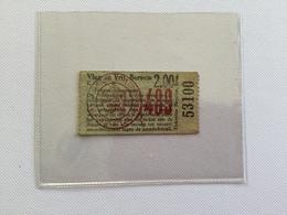 TICKETS D'ENTREE «VLUG EN VNIJ .BORNEM K.B.V.B.( 1950/1960) Match V.V.B.  2. /  F.C.Edegem  4 . - Tickets D'entrée