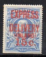 Sello Nº 1 Pour Lettres Par Express Mauritius - Mauricio (...-1967)