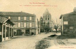 BURGAUD Près St CEZERT - L' EGLISE Et La HALLE - - Other Municipalities