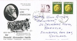 32712. Carta HAMILTON (Ontario) Canada 1970. Donald Alexander Smith, RAIL Line - 1952-.... Reinado De Elizabeth II
