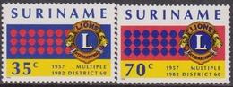 Suriname - 1982 Lions Club Set  MNH - Suriname