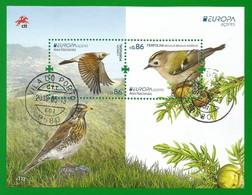 Portugal / Acores  2019 , EUROPA CEPT Birds - Aves Nacionals - Block / Sheet - Gestempelt / Fine Used / (o) - 2019