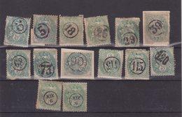 FRANCE : N° 111 . TYPE BLANC . 14 EX . OBL . JOUR DE L'AN . 1900 . - 1900-29 Blanc