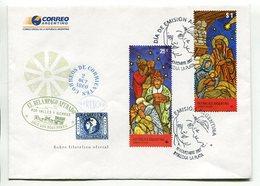 NAVIDAD, CHRISTMAS, XMAS, NOEL. ARGENTINA 2007 SOBRE DIA DE EMISION FDC ENVELOPE - LILHU - Navidad