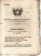 B 2492  - Regio Decreto, Lotto, 1870 - Decretos & Leyes