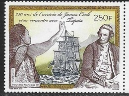 FRENCH POLYNESIA, 2019, MNH, EXPLORERS, ARRIVAL OF CAPTAIN COOK, SHIPS,1v - Explorateurs