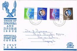 32717. Carta F.D.C. DAR ES SALAAM (Union Tanganika Y Zanzibar) 1964 - Zanzibar (1963-1968)