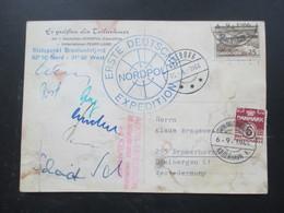 Grönland 1966 Erste Deutsche Nordpol Expedition Peary Land Unterschriften Der Teilnehmer Arktis Exp. Dr. Herrligkoffer - Briefe U. Dokumente