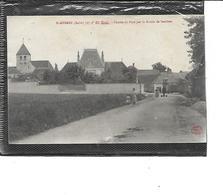 10-SAINT-MESMIN-(Mery-sur-Seine)-Une Vue Animée De L'Entrée Du Village Par La Route De SAVIERES - France