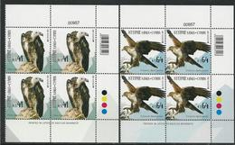"CHIPRE/ CYPRUS/ ZYPERN/ CHYPRE- EUROPA 2019 -NATIONAL BIRDS.-""AVES - BIRDS - VÖGEL -OISEAUX""- 2 BLOQUES De 4- CB - 2019"
