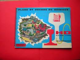 CATALOGUE 1962 PLANS ET DECORS  DE RESEAUX JOUEF MARQUE DEPOSE  H O  TELECOMMANDE  / TRAIN CHEMIN DE FER - Letteratura & DVD