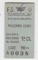 Biglietto Treno- Italy Italia - Railway