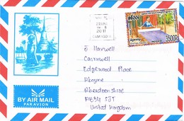 32720. Carta Aerea PHNOM PENH (Camboya) Cambodia 2011 To Scotland - Camboya
