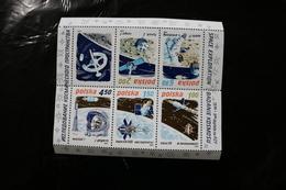 Poland 2369a Space Achievements Soyuz Aollo 11 Gagarin Lunik Ranger More Souvenir Sheet Block Folded Perfs MNH 1979 - Blocks & Sheetlets & Panes