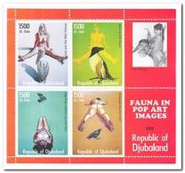 Republic Of Djubaland 1999, Postfris MNH, Birds, Pop Art - Somalië (1960-...)