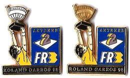 TELEVISION - ANTENNE 2 / FR3 - AF2 - ROLAND GARROS 91/92 - Verso : DECAT PARIS - Médias