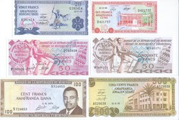 Burundi 8 Note Set 1968 COPY - Burundi