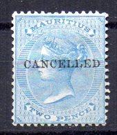 Sello Nº 32 Sobrecarga Cancelled.  Mauritius - Mauricio (...-1967)