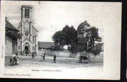 45, CERNOY, La Place De L'eglise - Autres Communes