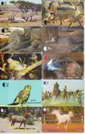 OMAN - SET OF 10 ANIMAL CARDS - ORYX - TAHR - LYNX - LEOPARD - PALM DOVE - EAGLE - BIRD - CAMEL - HORSE - Oman
