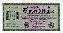 Billet Allemand De 1000 Mark Le 15 Septembre 1922 - En T T B + - - [ 3] 1918-1933 : Repubblica  Di Weimar