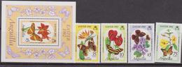 Anguilla  -  1982 Easter Pascqua Flowers Butterfli Set+shett  MNH - Anguilla (1968-...)