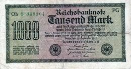 Billet Allemand De 1000 Mark Le 15 Septembre 1922 - En T B - - [ 3] 1918-1933 : Repubblica  Di Weimar