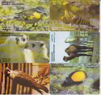 KUWAIT - SET OF 6 ANIMAL CARDS - BIRD - CAMEL - FISH - Kuwait