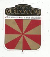 Autocollant ,  Château De DIDONNE ,17 ,  SEMUSSAC - Autocollants