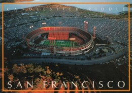 Candlesitck Park Stadium, San Francisco, 49ers Football Game Full Parking Lot Empty Seats, C1980s/90s Vintage Postcard - Stadi
