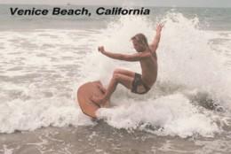 Surfing Surfboard Venice Beach California C1980s/1990s Vintage Postcard - Postcards