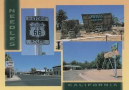 Route 66, Needles California, Motel Sign, Street Scene, Mojave Desert Area, 1990s/2000s Vintage Postcard - Route '66'