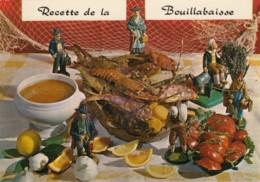Recette De La Bouillabaisse Recipe, Fish Stew France 1960s Vintage Postcard - Recipes (cooking)