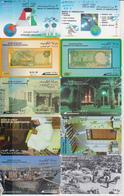 OMAN - SET OF 10 CARDS - TOWER - SATELLITTE - BANKNOTE - SHIP - Kuwait